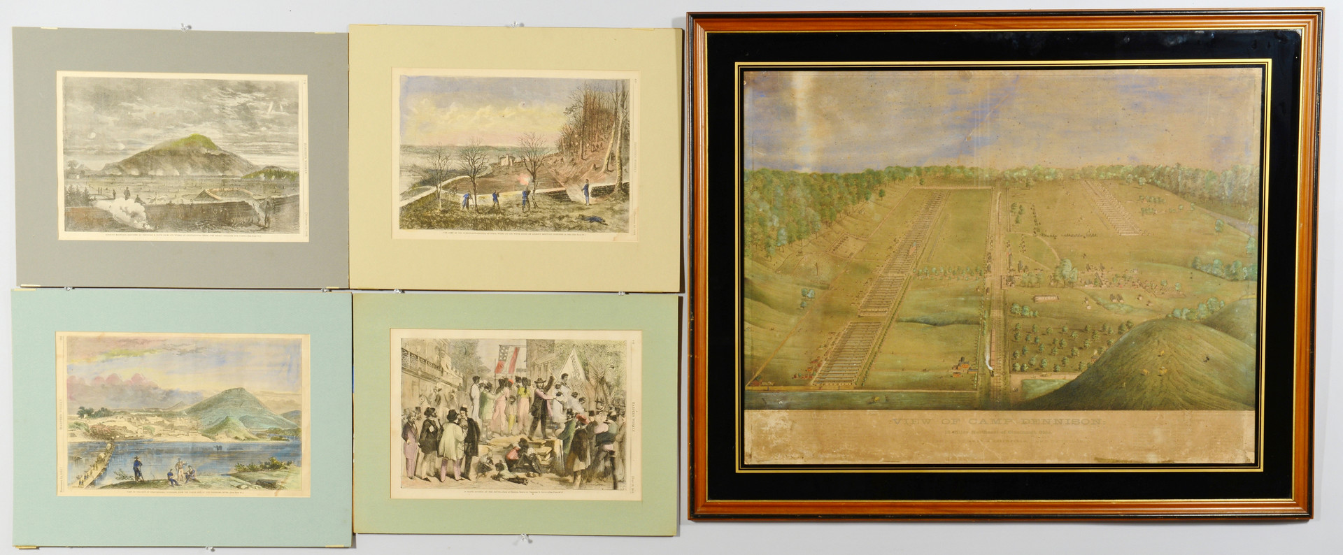 Lot 421: Camp Dennison and Harper's Ferry Prints