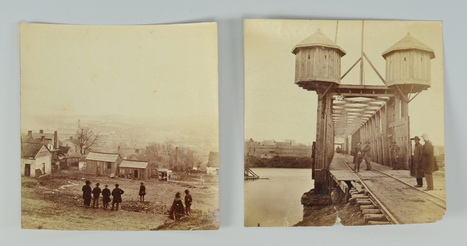 Lot 424: 2 Civil War Photos of Nashville