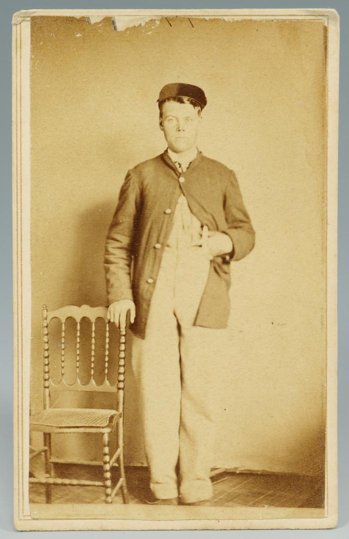 Lot 425: 5 Civil War Era CDVs inc Booth, Browlow