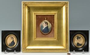 Lot 42: 3 American Portrait Miniatures