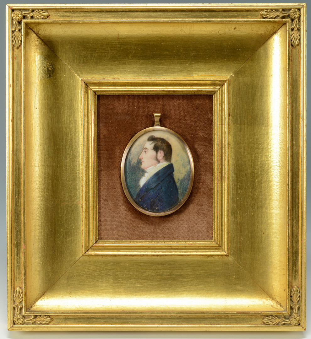 Lot 42: 3 American Portrait Miniatures