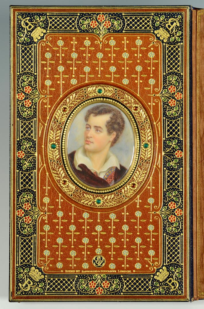 Lot 436: 1807 Byron book, Cosway binding, Sangorski & Sutcliffe
