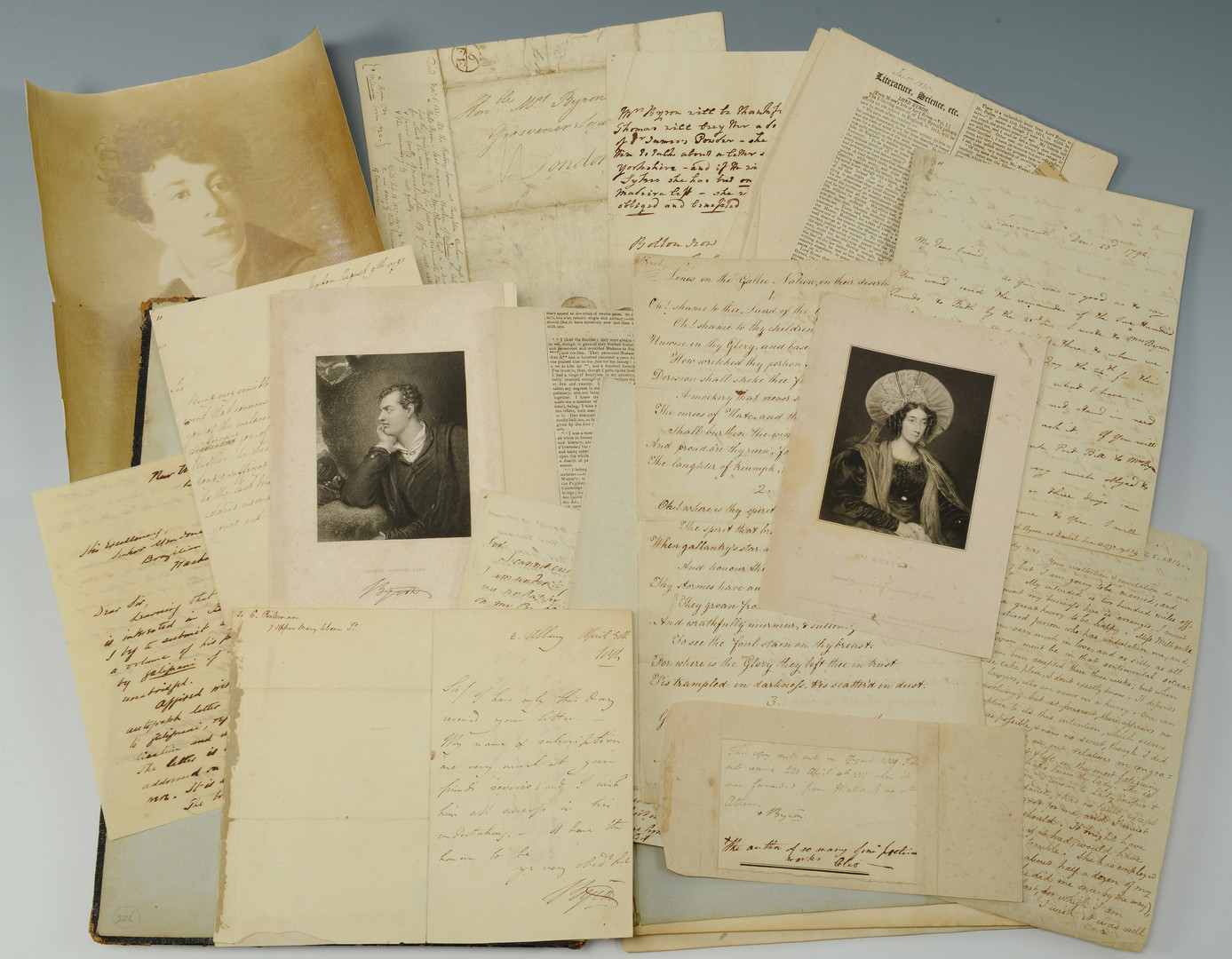 Lot 437: Lord Byron signed letters archive