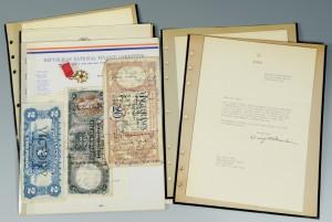 Lot 439: Political & Military Autographs