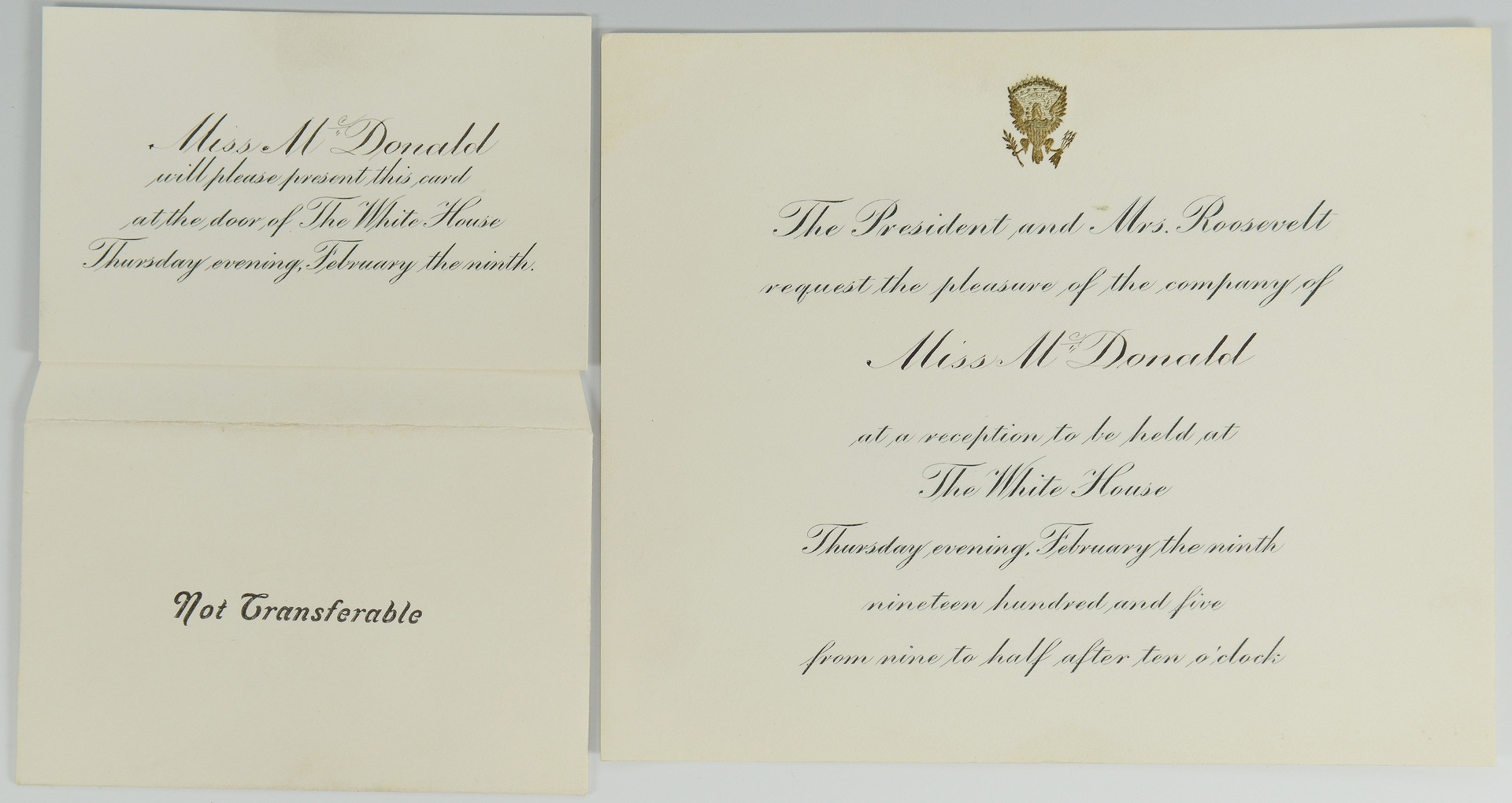 Lot 441: Coolidge signed letter, Rep. Fordney Archive