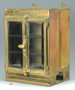 Lot 445: French Brass Perfume Cabinet, 19th c.
