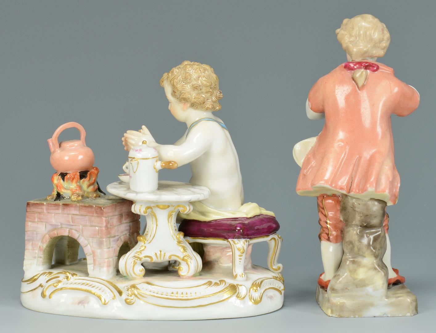 Lot 446: 2 Meissen Figures: Tea and Music