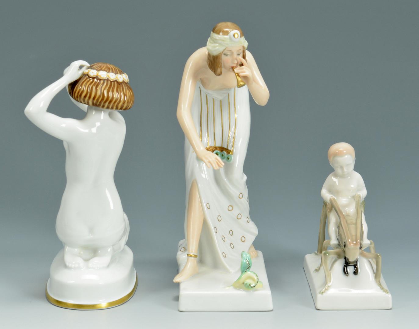 Lot 450: Three Rosenthal figures, Caasmann