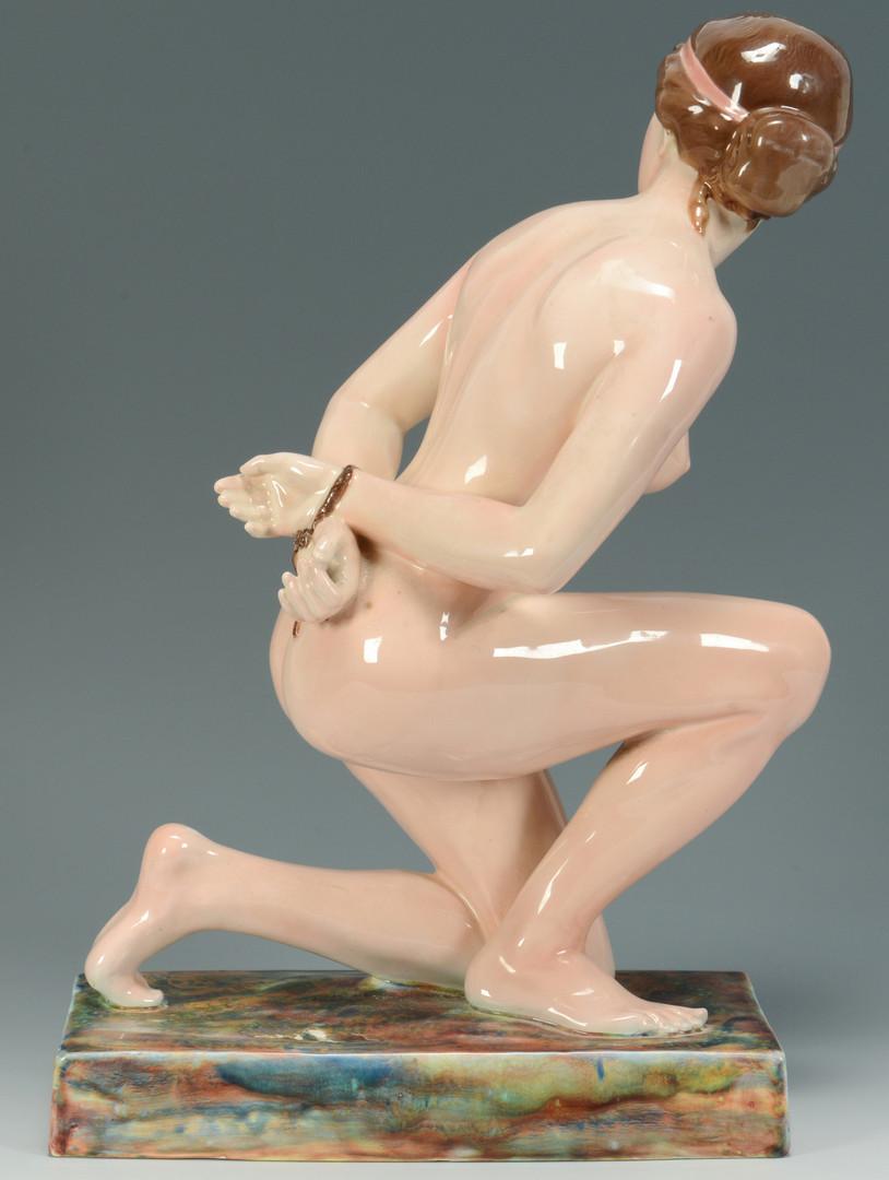 Lot 452: Large Austrian Porcelain Female Nude