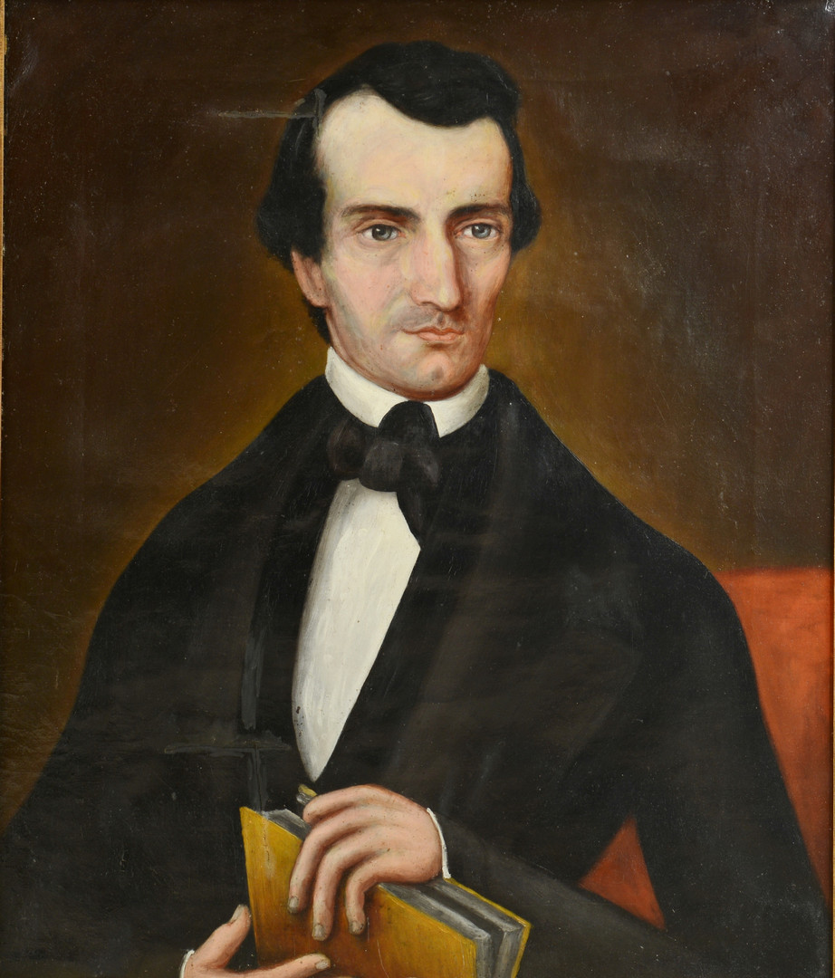 Lot 459: Folk Portraits of Dr. John Cyrus Ealy & Wife