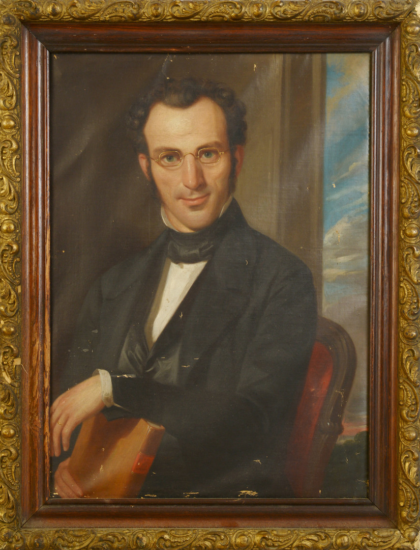 Lot 460: John Francis, Portrait of a Gentleman with book