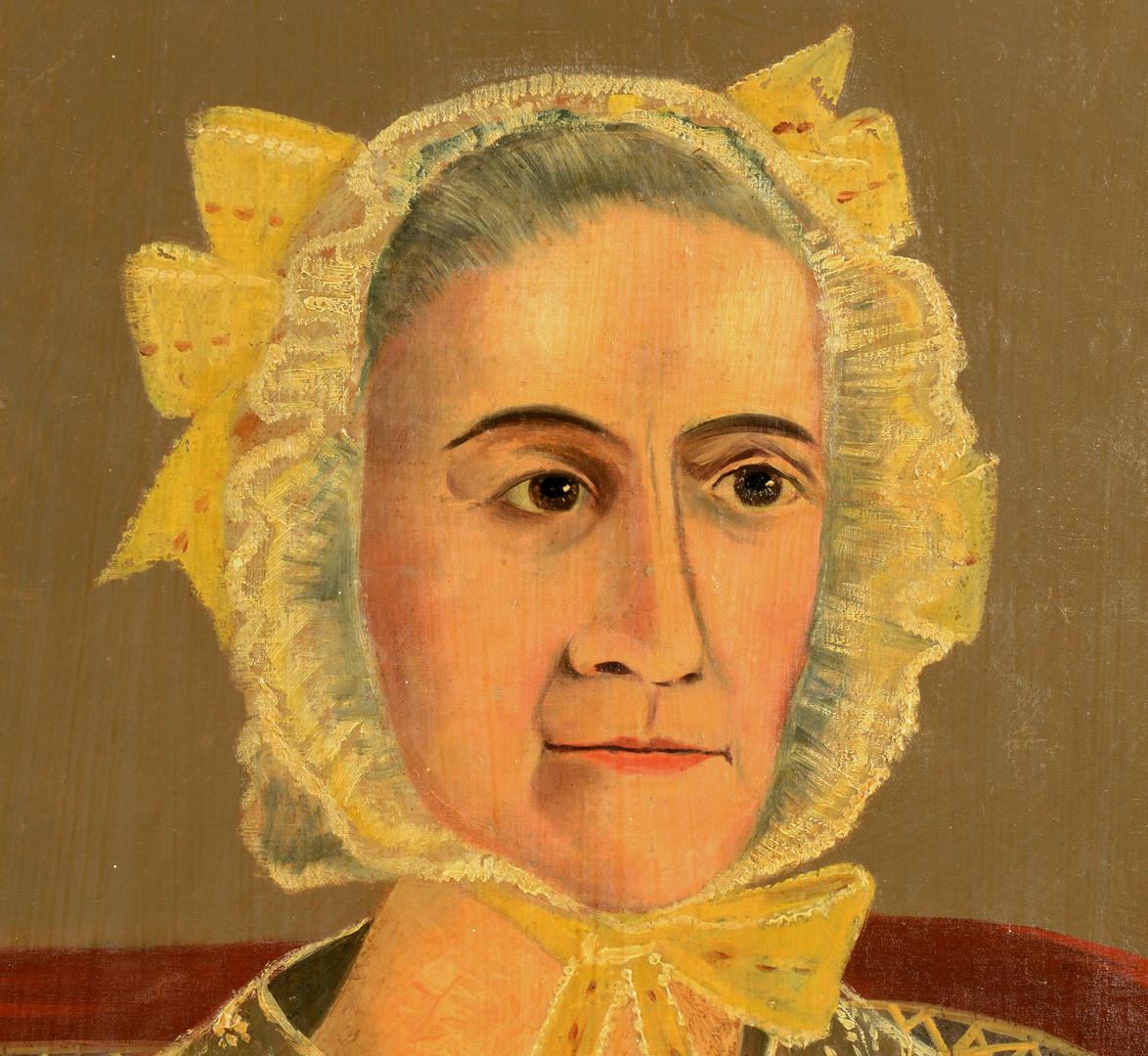 Lot 461: Southern Folk Art Portrait, Martha Mecklin Ward