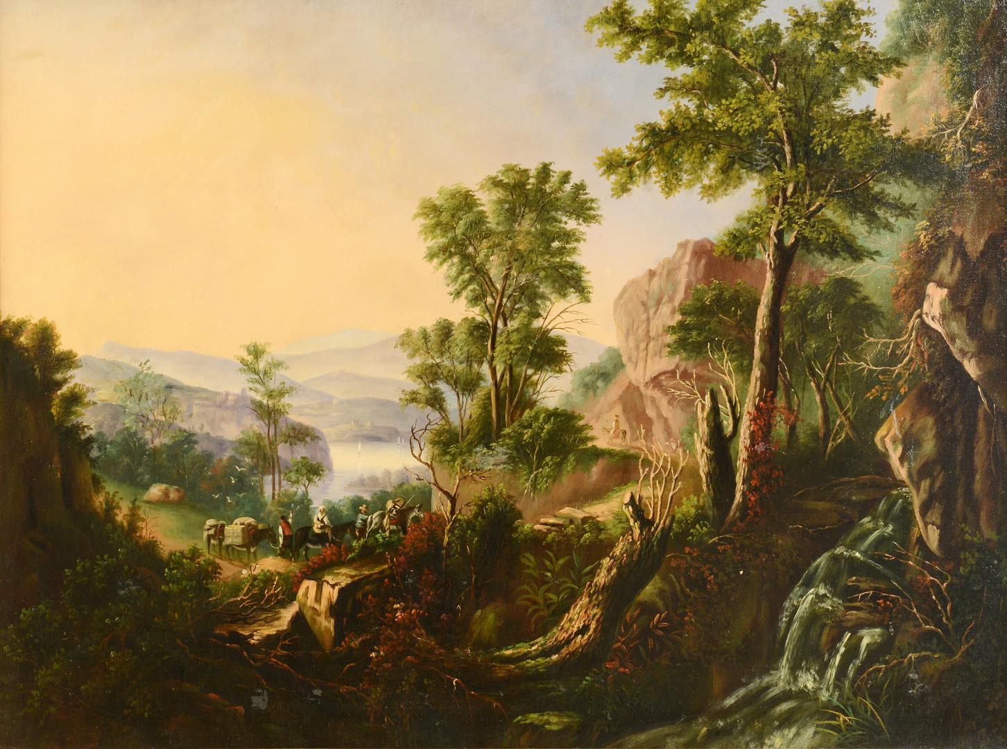 Lot 462: Large Hudson River landscape
