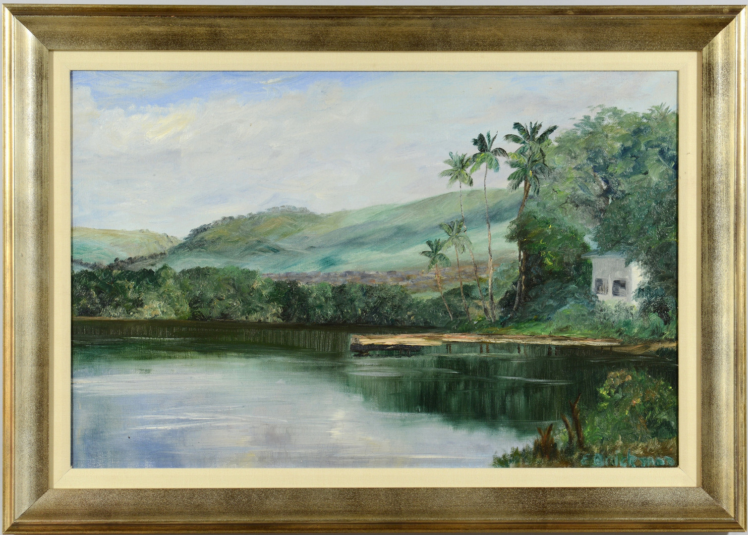 Lot 464: Hawaiian landscape o/c, Brickman