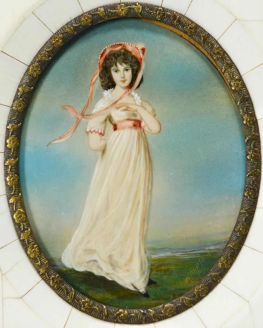 Lot 467: Pr. Portrait Miniatures, after Gainsborough