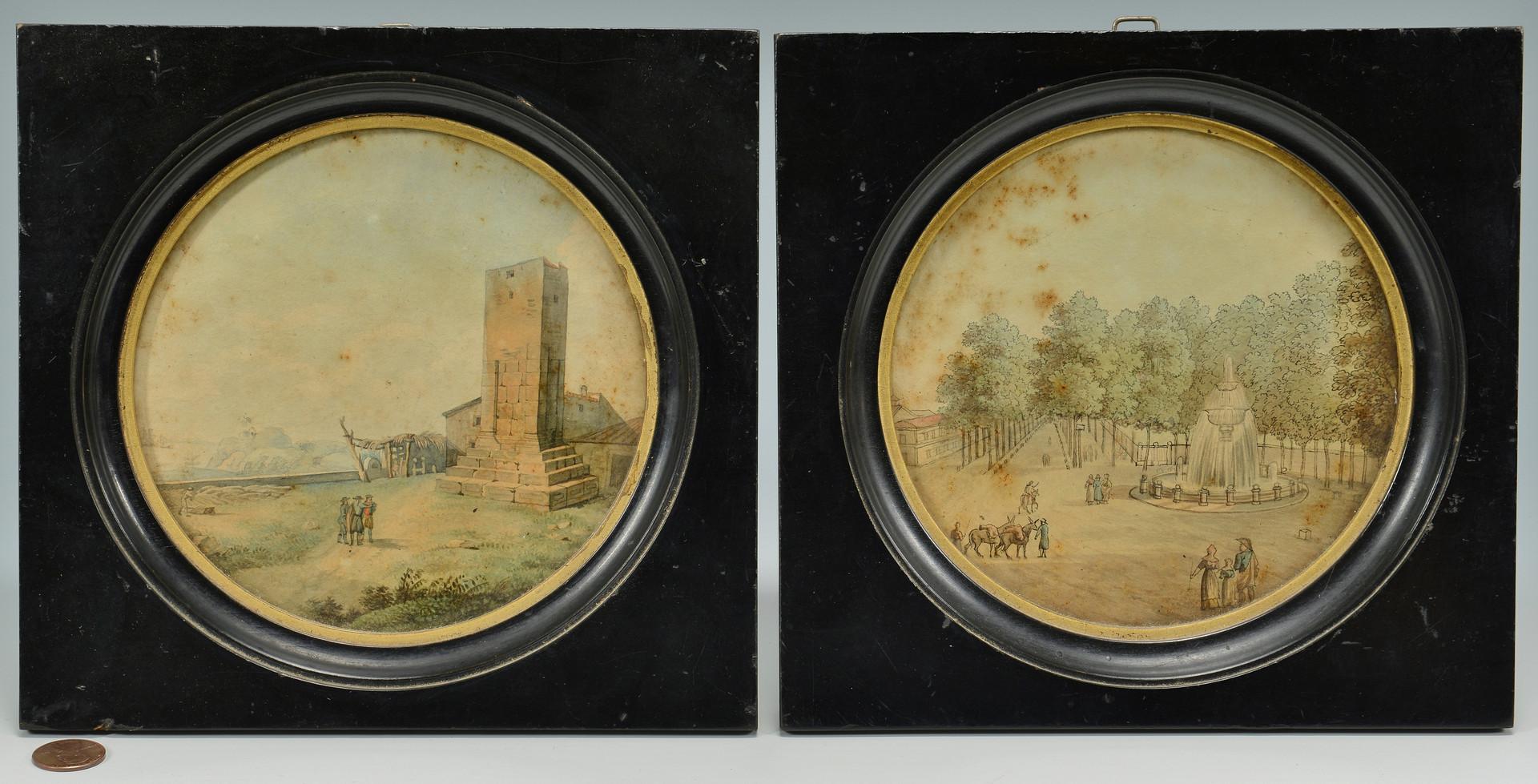 Lot 469: 4 European Landscape Miniatures