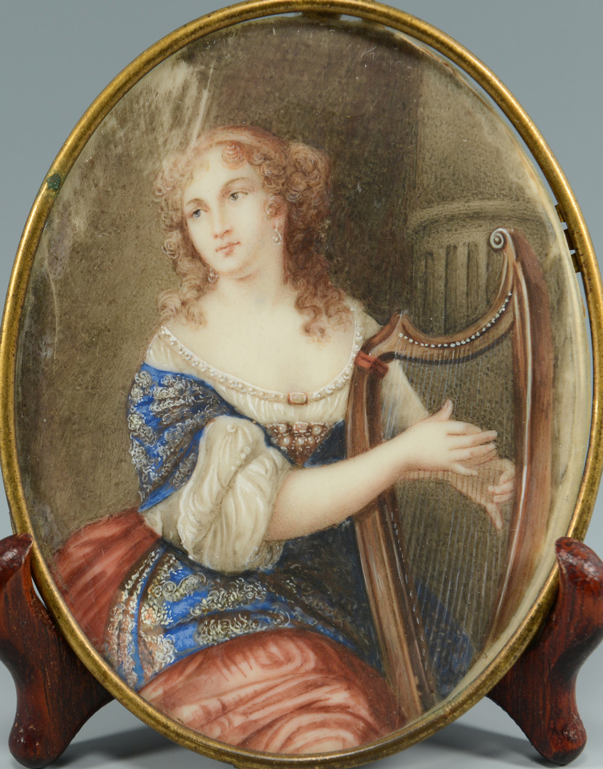 Lot 470: Miniature Portrait, Anne Marie Louise d'Orleans