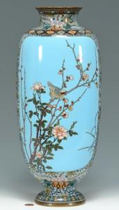 Lot 475: Large Meiji Cloisonne Vase