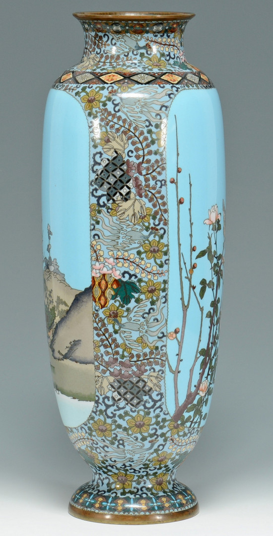Lot 475: Large Meiji Cloisonne Vase