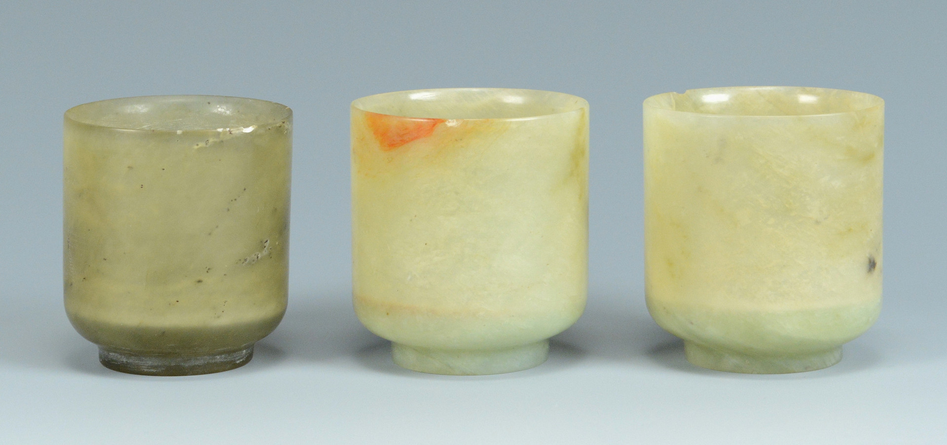 Lot 480: 6 Jade Footed Cups