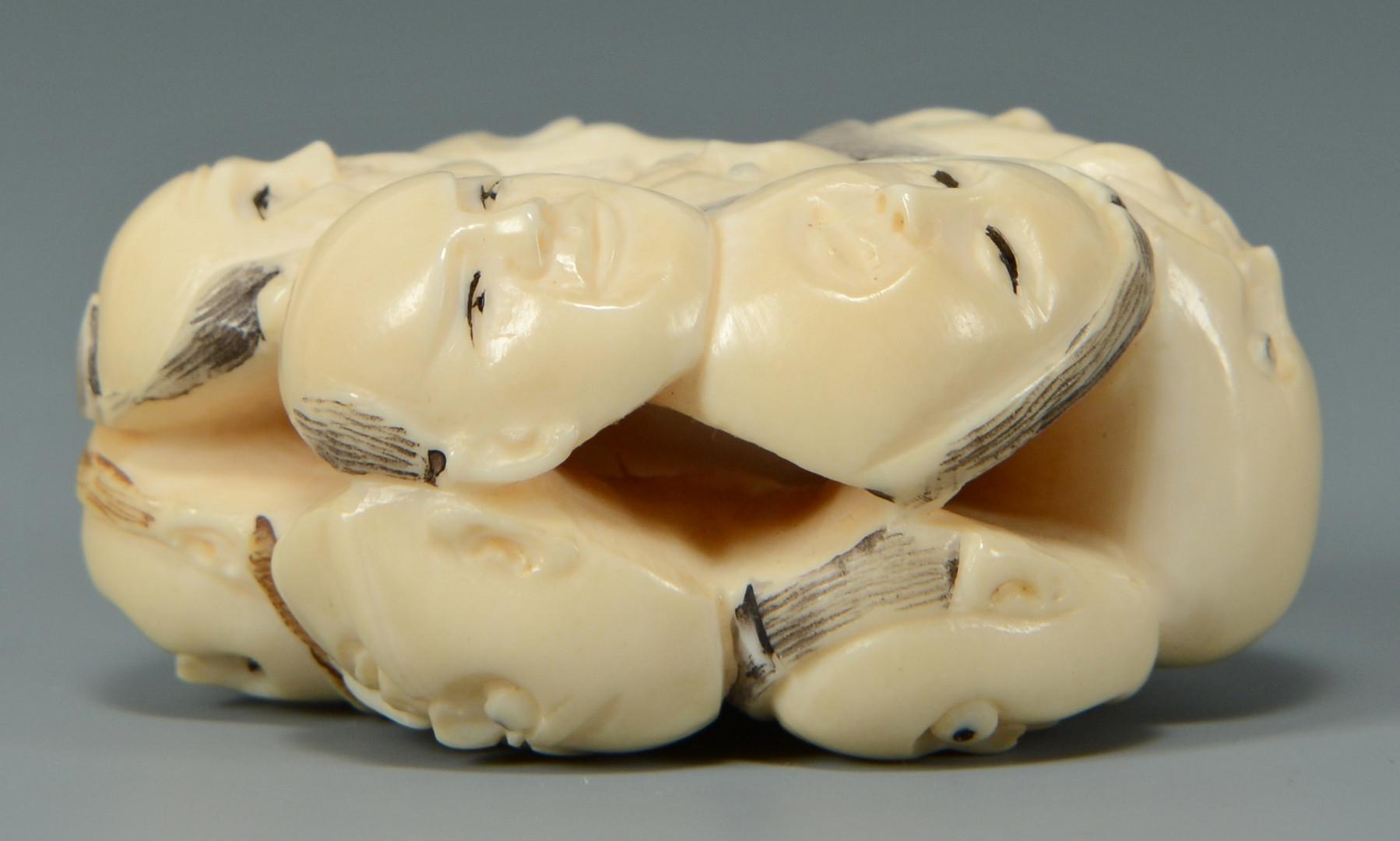 Lot 486: Ivory Netsuke, 12 Deities