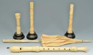 Lot 487: 5 Decorative Ivory Items