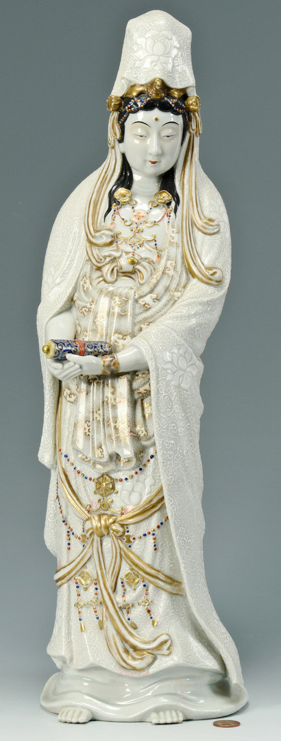 Lot 489: Chinese Porcelain Quan Yin Figure