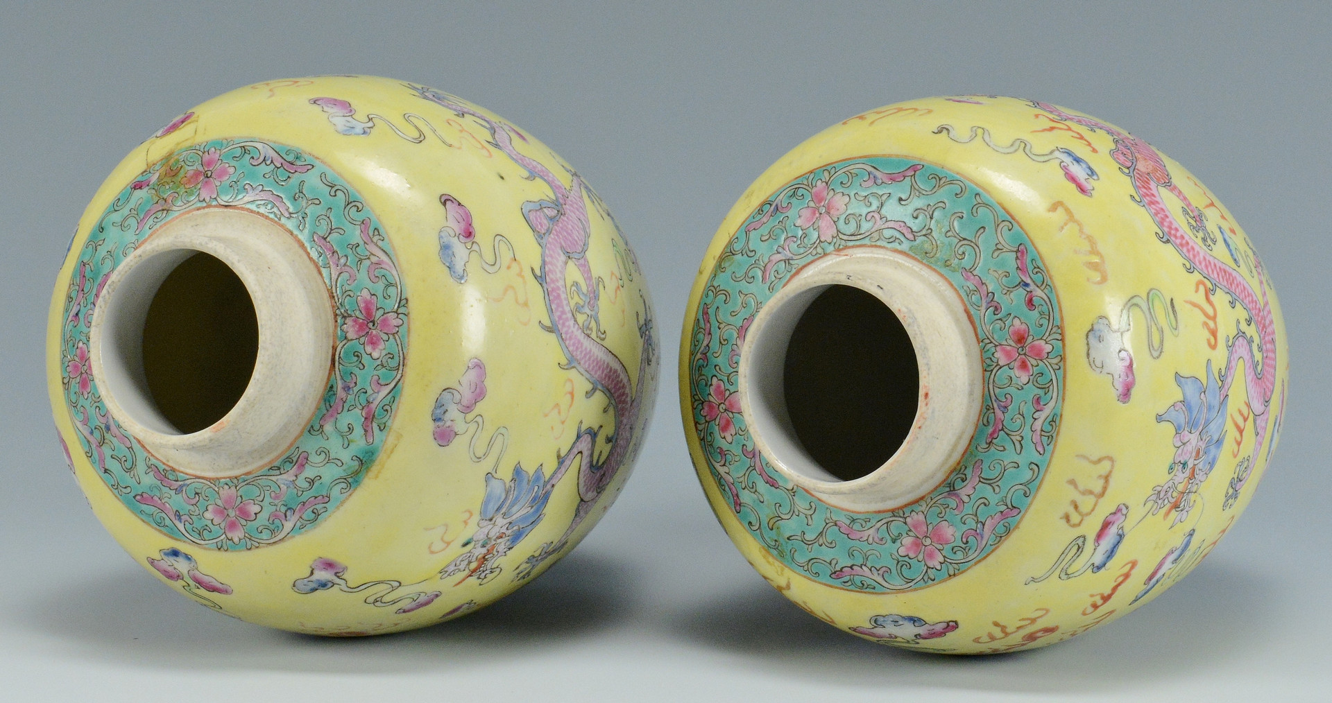 Lot 490: Pr. Chinese Republic Famille Rose Vases