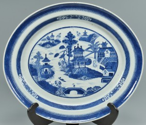 Lot 491: Large 19th c. Canton Platter
