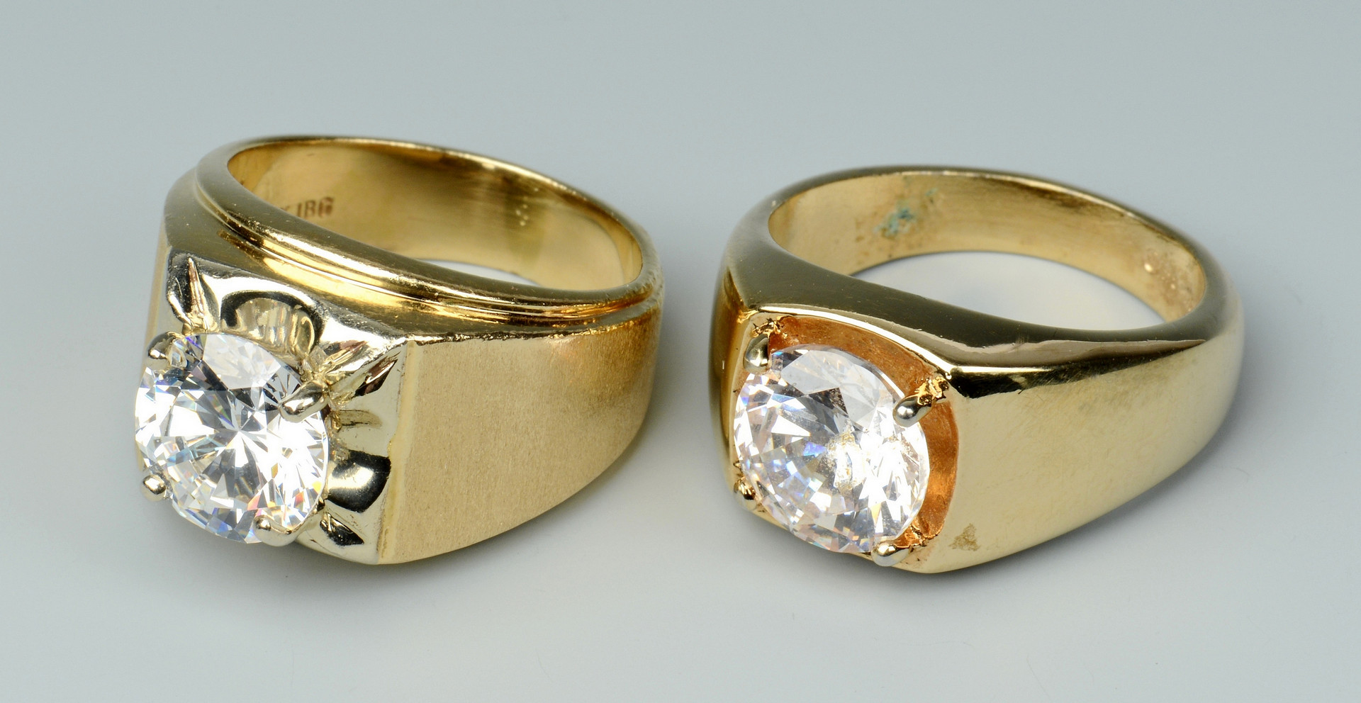 Lot 498: 2 Rings and 1 Watch, 18K & 14K