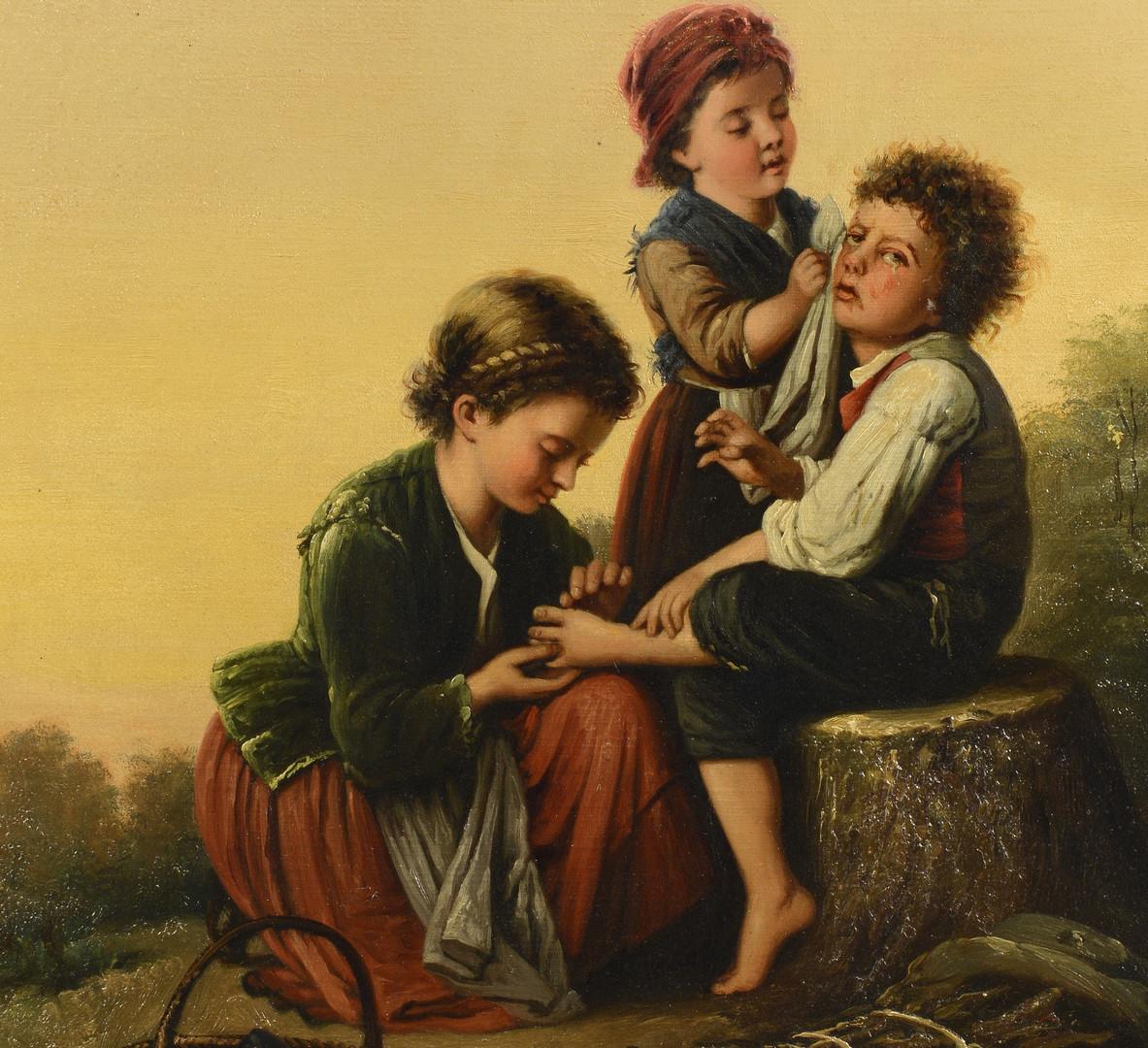 Lot 49: C. Beeker genre scene with children