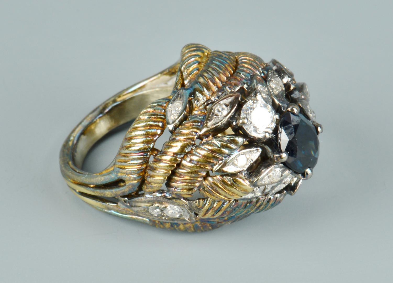 Lot 503: 14k Sapphire & Diamond Ring