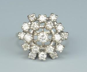 Lot 504: 14k Diamond Ballerina Ring