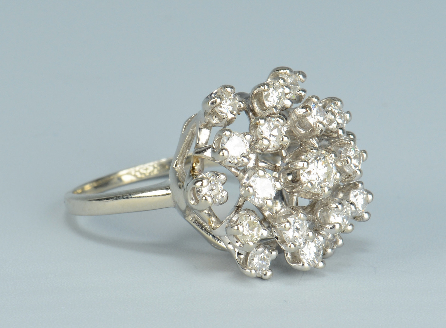Lot 504: 14k Diamond Ballerina Ring