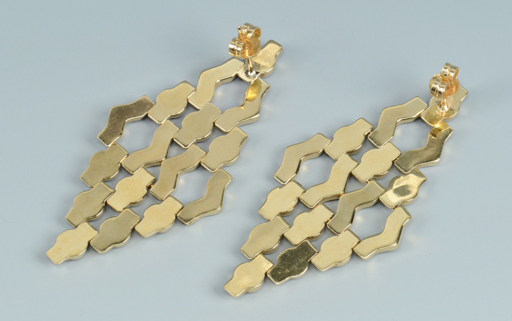 Lot 505: Two Pair 14k Dangle Earrings