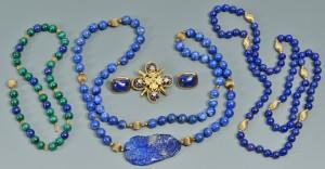 Lot 506: Group of Lapis Jewelry, 5 pcs