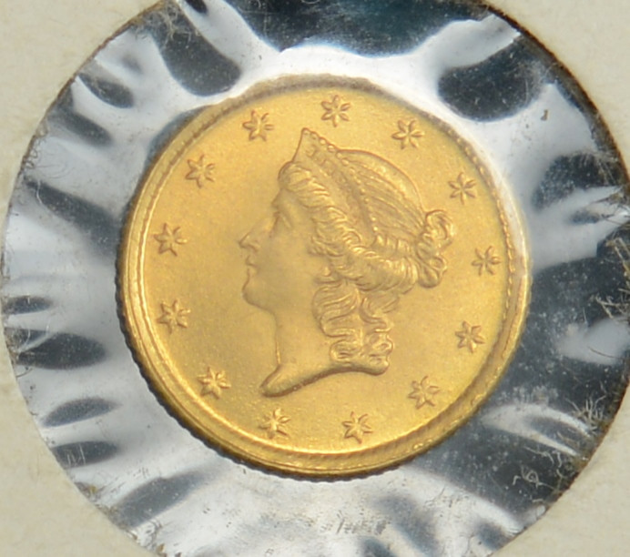 Lot 508: 2 Gold Coins, $5 & $1