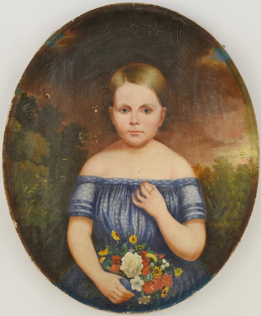 Lot 50: Tennessee Child Portrait, c.1850
