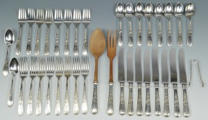 Lot 511: S. Kirk and Sons Old Maryland Flatware