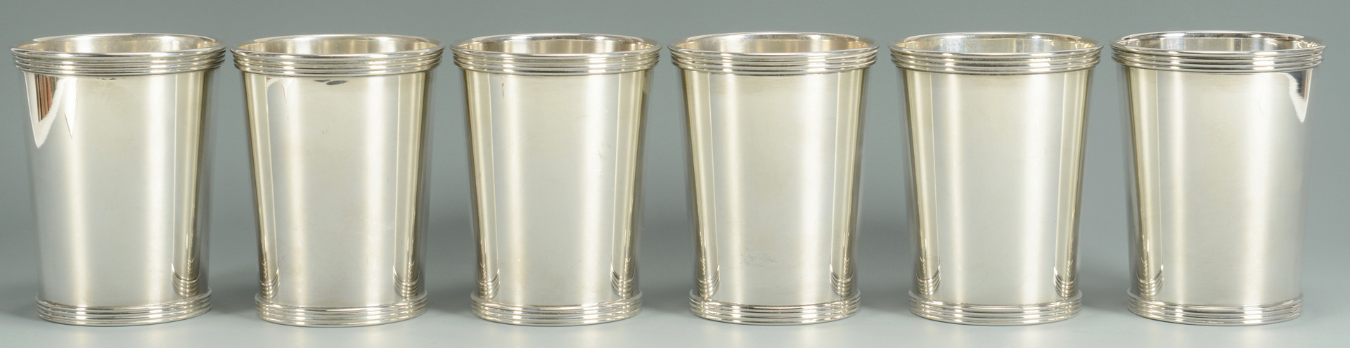 Lot 514: Set of 6 Sterling Silver Julep Cups