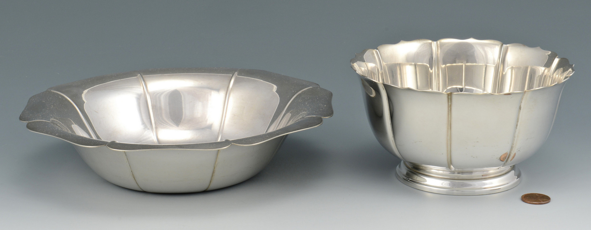 Lot 517: Tiffany and Lunt Sterling Bowls