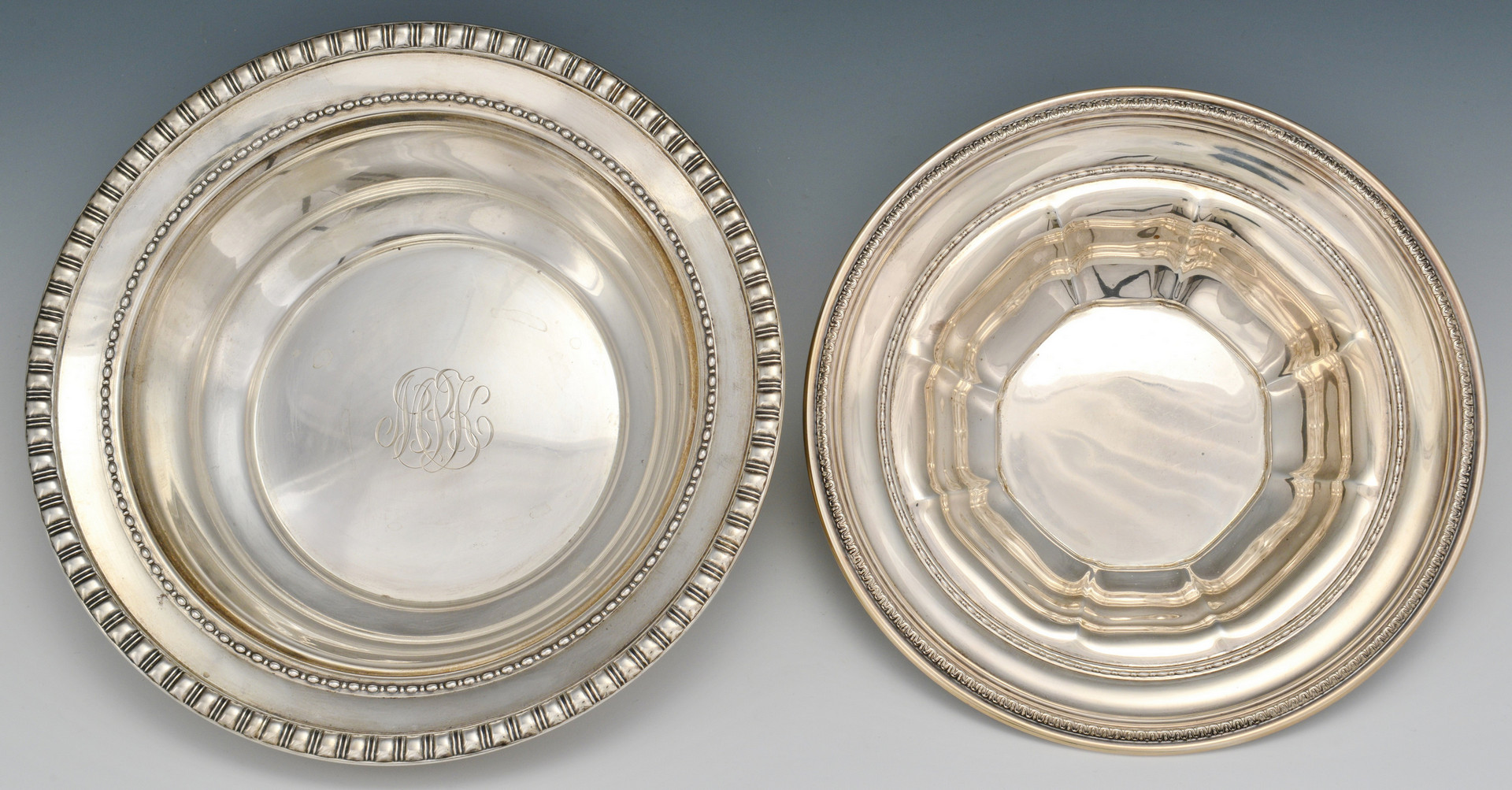 Lot 518: 4 pcs Sterling Silver Hollowware