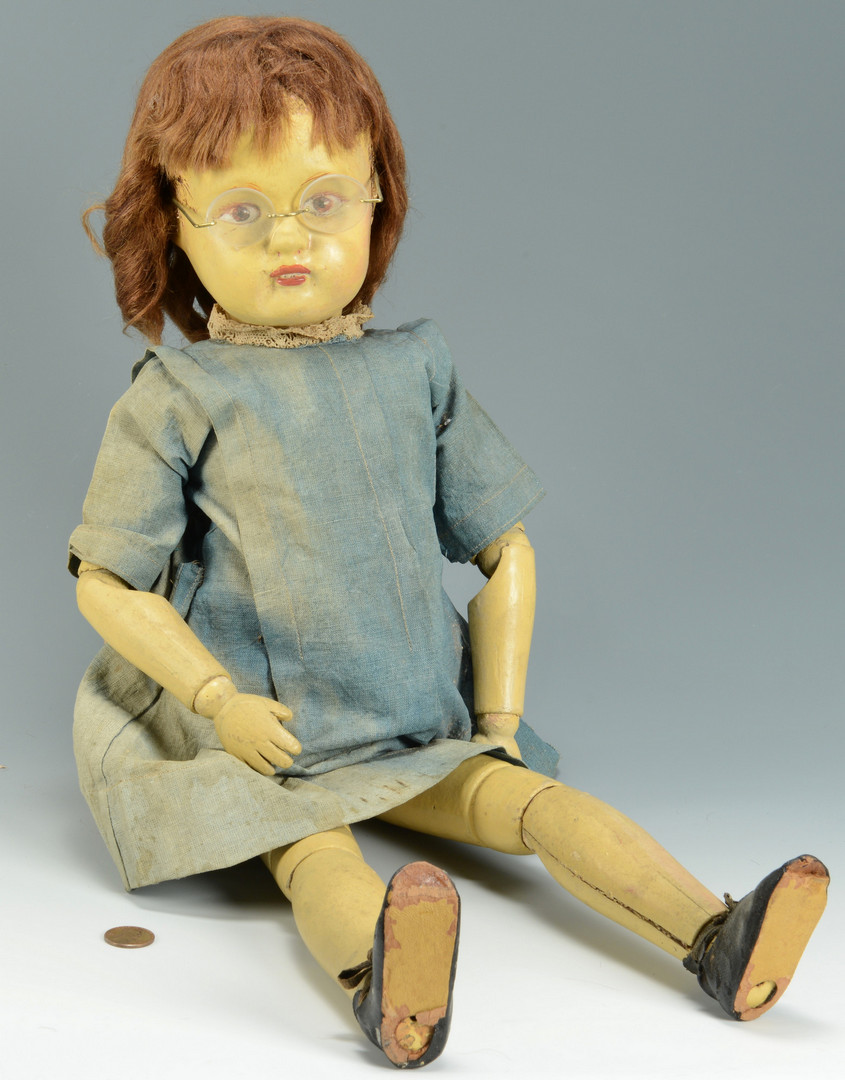Lot 529: Schoenhut Character Doll with glasses