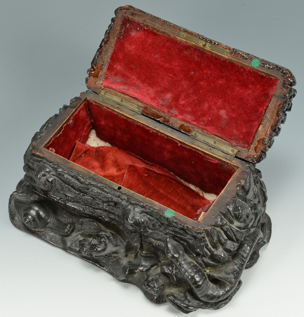 Lot 530: Black Forest Jewelry or Sewing Box