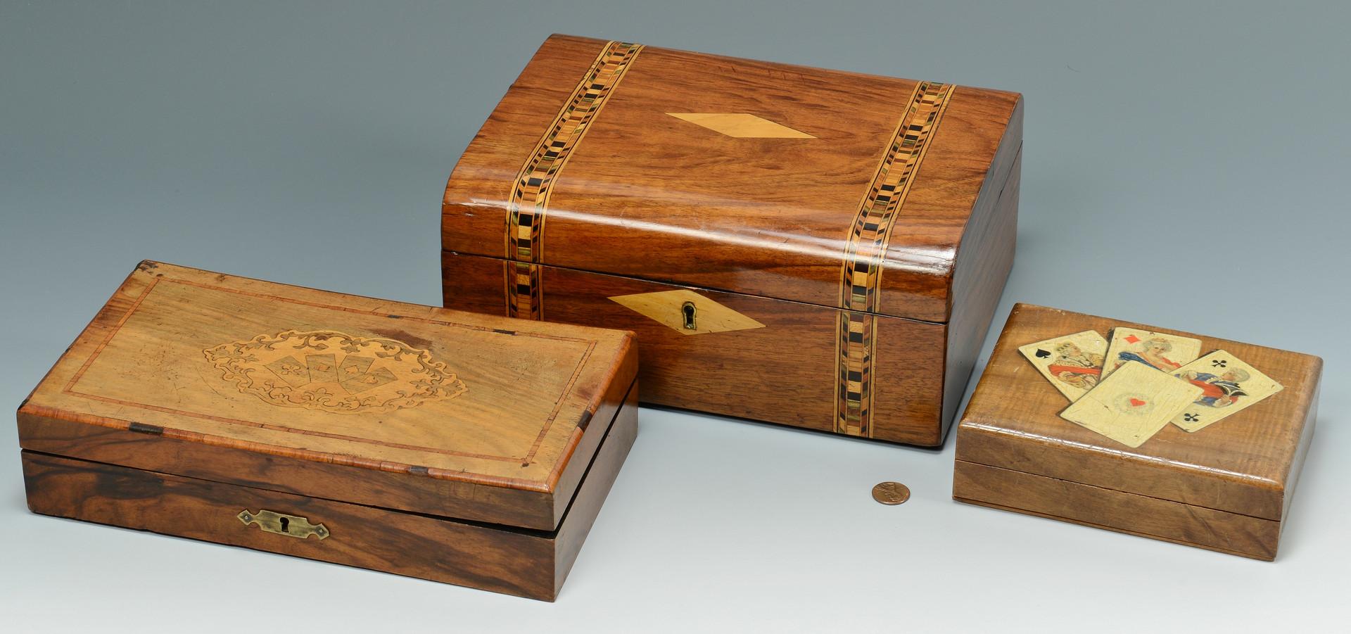 Lot 534: Three European Boxes