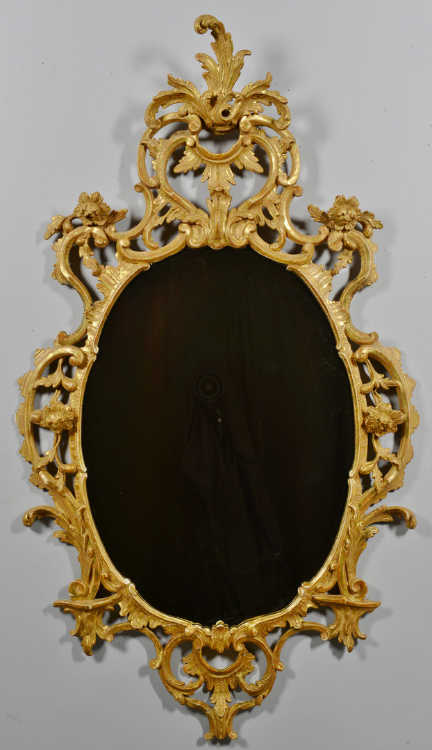 Lot 535: Gilt Carved Chippendale Mirror