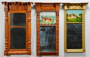 Lot 536: 3 Classical Tabernacle Mirrors