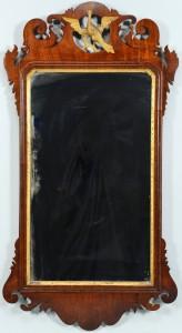 Lot 537: Mahogany Chippendale Mirror w/ eagle