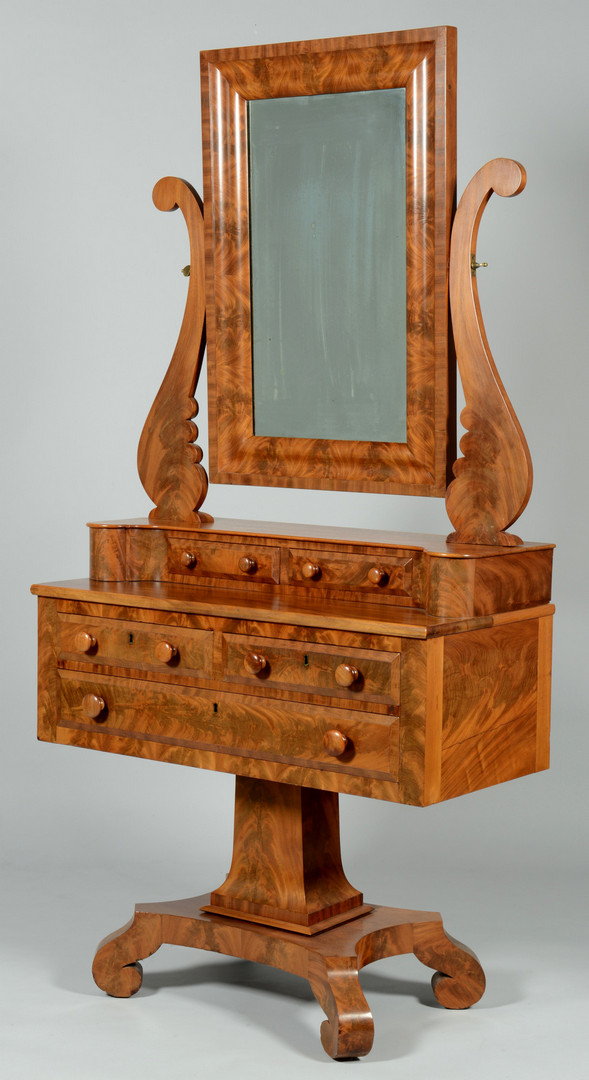 Lot 540: Classical Dressing Table w/ Mirror