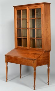 Lot 544: East TN Walnut Bookcase & Desk